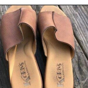 Kork-Ease Greer Platform Leather Mules, Women's S